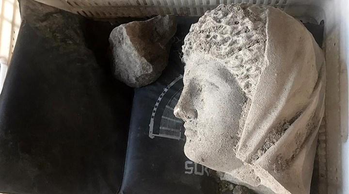 1700 yıllık kadın heykeli bulundu!