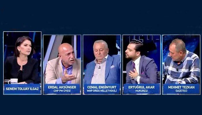 CHP'li Erdal Aksünger de Global canlı yayınını terk etti