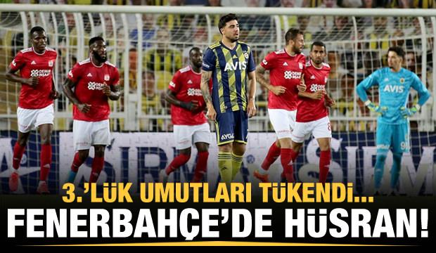 Fenerbahçe'nin 3.'lük şansı kalmadı!