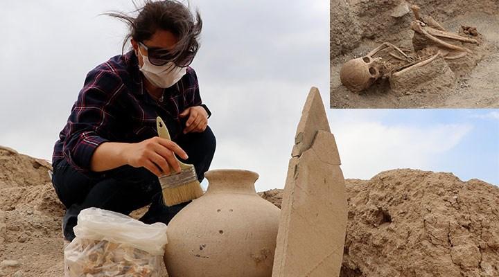 2 bin 750 yıllık nekropolde yer alan gömülere ait detay şaşkınlık yarattı