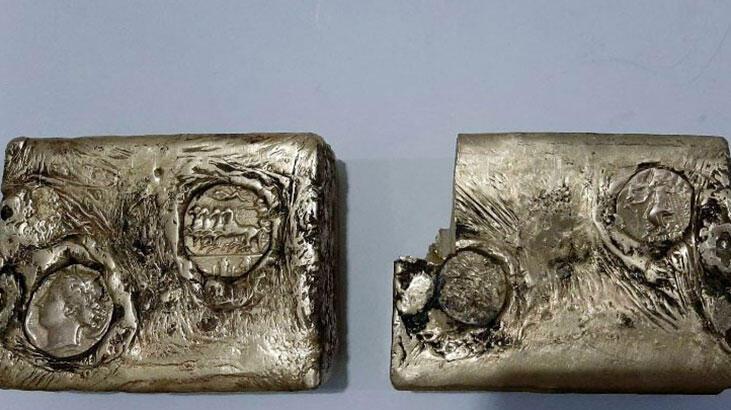 Antik Yunan'dan kalma külçe altın bulundu