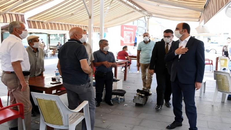 Başkan Altay Yunak ve Tuzlukçu'da incelemelerde bulundu