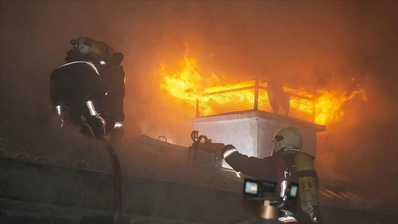 Hacı Bayram Veli Camisi'nin avlusunda yangın çıktı