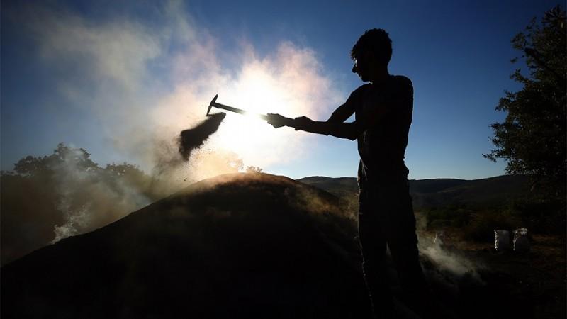 Mangal kömürcülerinin zorlu mücadelesi