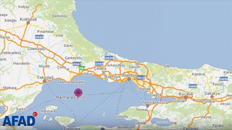 Marmara Denizi'nde 4,2'lik deprem! İstanbul da sallandı