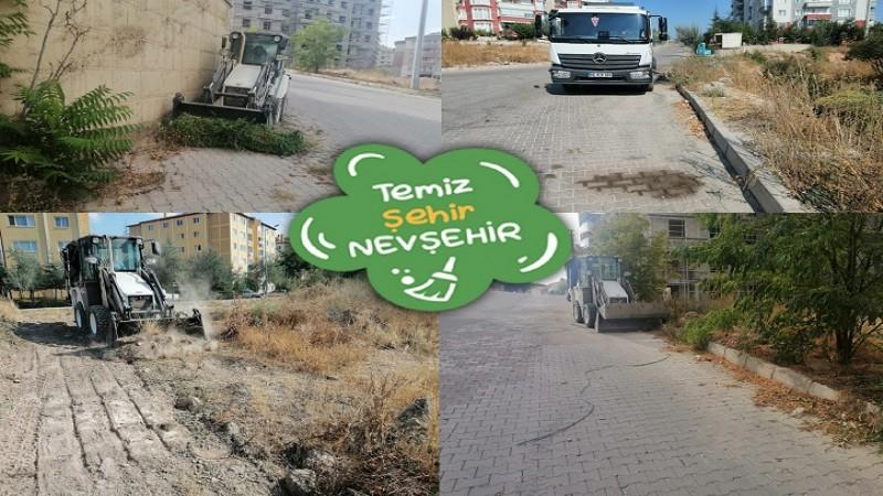 Nevşehir'de temizlik çalışmaları sürüyor