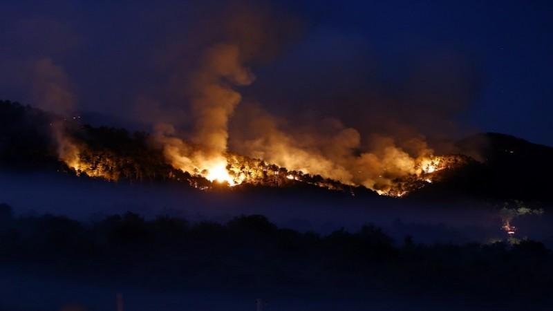 'Yangın sönse de bölge terk edilmemeli'