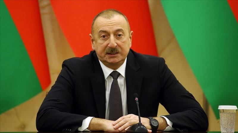 Aliyev: Madagiz'de Azerbaycan bayrağı dikildi
